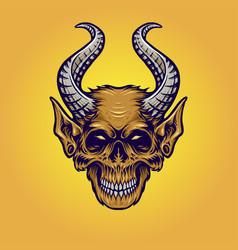 monster horn monkey vector image