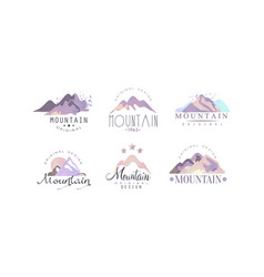 mountain original logo templates collection vector image