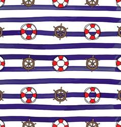 Nautical stereeng wheel seamless pattern vector