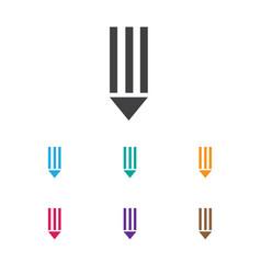 Of bureau symbol on pen icon vector