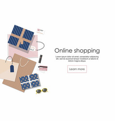 online shopping shopping bags and others vector image
