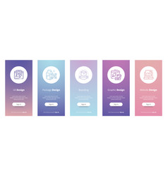 Package vertical cards with strong metaphors vector