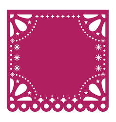 Papel picado cutout template design mexico vector
