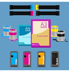 Paper and cartridges vector image