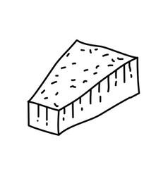 parmigiano reggiano icon doodle hand drawn vector image