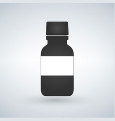 pills bottle icon with space to write modern pill vector image