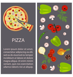 Pizza restaurant menu vector