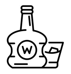 premium whisky bottle icon outline style vector image