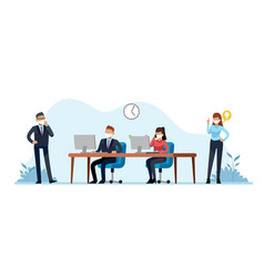 quarantine office people employees and managers vector image