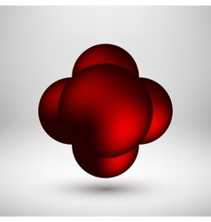 Red Abstract Bubble Badge vector image