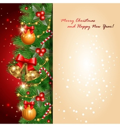 red greetings card vector image