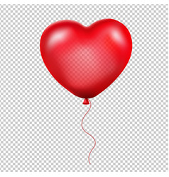 red heart balloon vector image