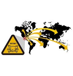 Risk global epidemic swine flu vector