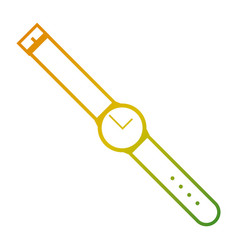 round wristwatch time accessory image vector image