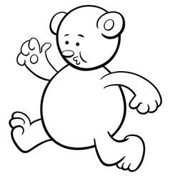 running bear coloring page vector image