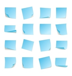 Set of big collection paper curled corners of vector image