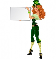 Sexy leprechaun girl vector