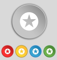 Star Favorite icon sign Symbol on five flat vector image