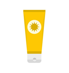 Sunscreen icon flat style vector