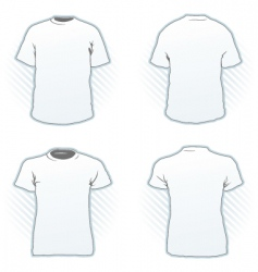 t-shirt design template set vector image
