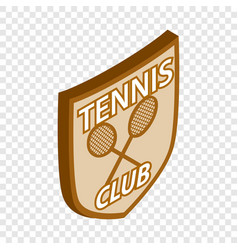 Tennis club shield isometric icon vector