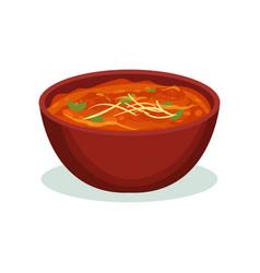 Tikka masala traditional indian cuisine food vector