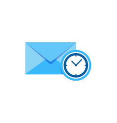 time mail logo icon design vector image