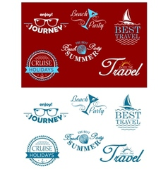 Travel headers and tags vector image