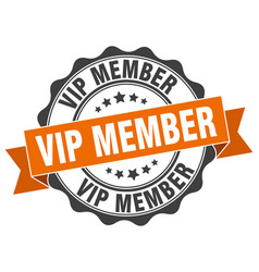 Vip member stamp sign seal vector