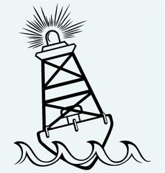 Warning buoy off the coast vector
