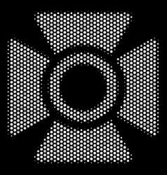 White dotted searchlight icon vector