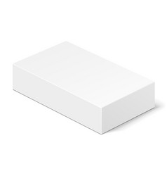 White product cardboard package box vector