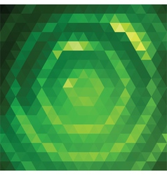24 Green Triangles vector image vector image