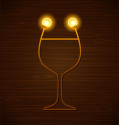 Abstract wine glass vector