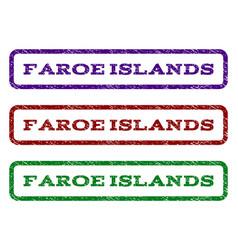 faroe islands watermark stamp vector image vector image