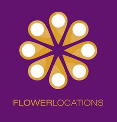 floral logo poster vector image