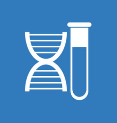 Icon dna with test tube vector