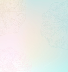 Pastel Flower Poster vector image vector image