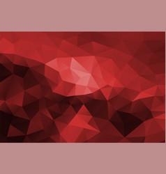 polygon background dark red vector image