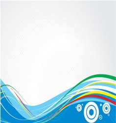 abstract lines with circles vector image