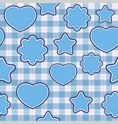 blue application - seamless pattern vector image vector image