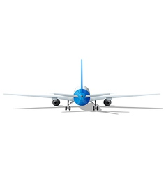 rear plane vector image