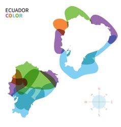 Abstract color map of ecuador vector