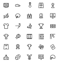 Football Line Icons 2 vector image vector image
