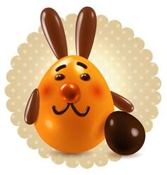 Sweet easter bunny congratulations vector image vector image