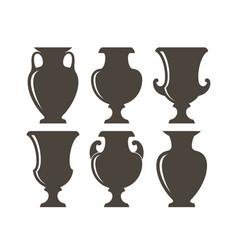 ancient greek vases vector image