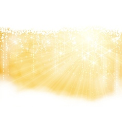 golden sparkling christmas theme vector image