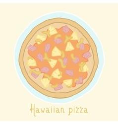 Hawaiian pizza vector image vector image