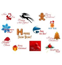 Holiday symbols and tags vector image vector image