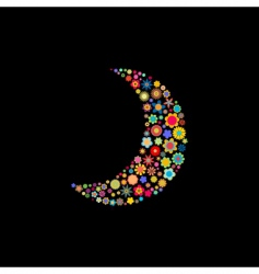 moon shape vector image